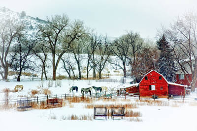 Country Snow Scene Original by Teri Virbickis