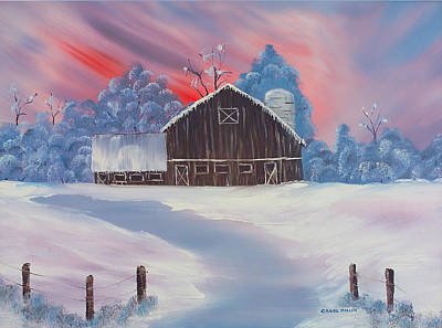 Painting - Country Snowfall by Carol L Miller