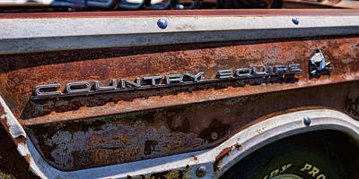 Door Locks And Handles - Country Squire Station Wagon by Alan Hutchins