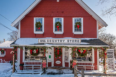 Photograph - Country Store At Christmas by Susan Cole Kelly