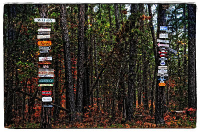 Street name sign art page 6 of 15 fine art america street name sign photograph country street directory by mike martin sciox Gallery