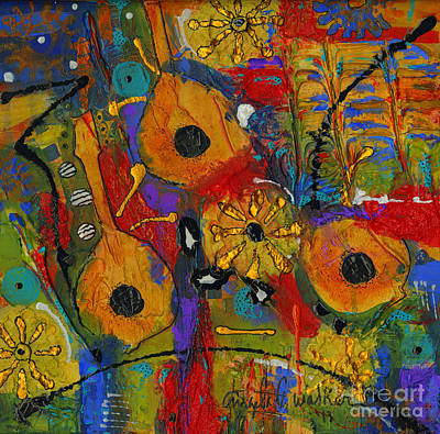 Mixed Media - Country Strings by Angela L Walker
