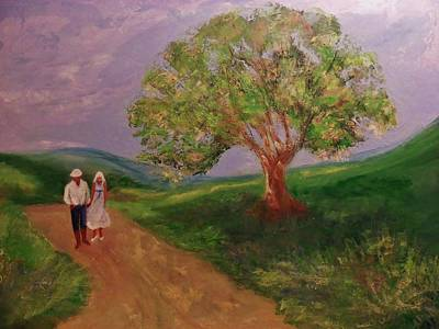 Landscape-like Art Painting - Country Stroll by Jan Moore