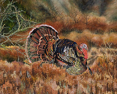 Painting - Country Strutter Turkey by Mary Dove