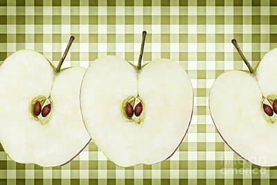 Country Style Apple Slices Art Print by Natalie Kinnear