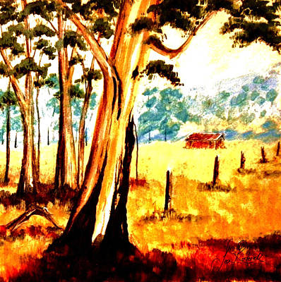 Gum-tree Mixed Media - Country Summer by Sean Roderick