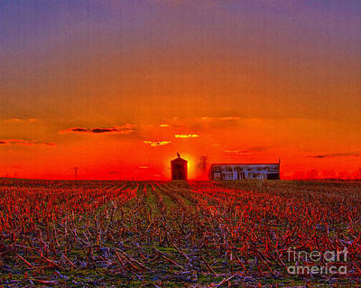 Photograph - Country Sun Set by Mike Flake