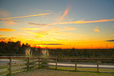 Photograph - Country Sundown by Judy Hall-Folde