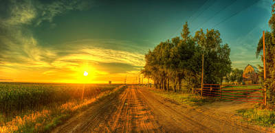 Hdr Landscape Photograph - Country Sunrise by  Caleb McGinn