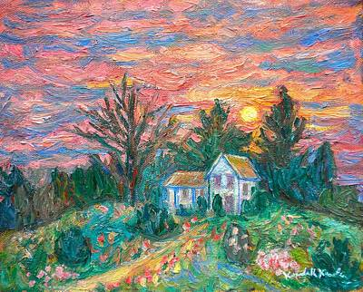 Country Sunset Art Print by Kendall Kessler
