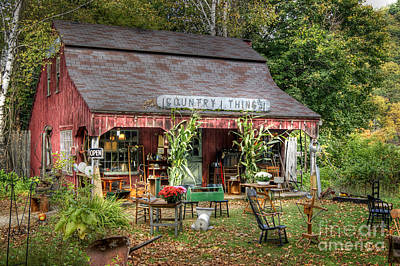 Photograph - Country Things Store by David Birchall