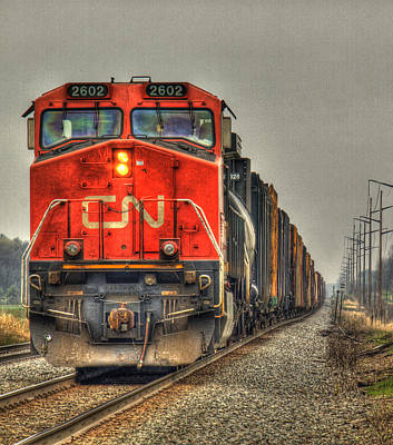Country Train Hdr Print by Thomas Young