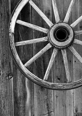 Wagon Wheels Photograph - Country Turn by Empty Wall
