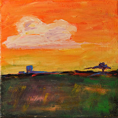 Painting - Country Twilight by Paulette B Wright