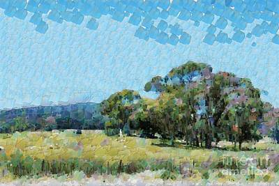 Digital Art - Country View by Fran Woods