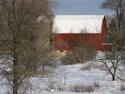 Art Print featuring the photograph Country Winter by Ann Horn
