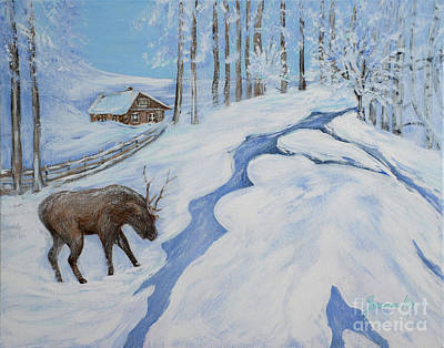 Country Winter Original by Oksana Semenchenko