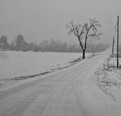Snowstorm Photograph - Country Winter Roads by Dan Sproul