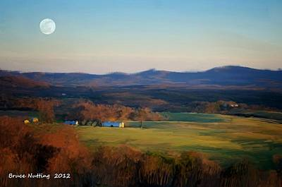 Moon Painting - Country With The Moon by Bruce Nutting