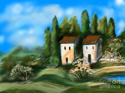Art Print featuring the digital art Countryside by Christine Fournier