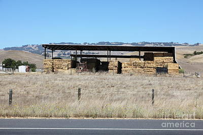 Photograph - Countryside Haystacks In Petaluma California 5d24427 by Wingsdomain Art and Photography