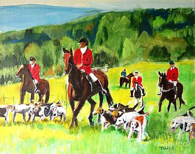 Countryside Hunt Art Print