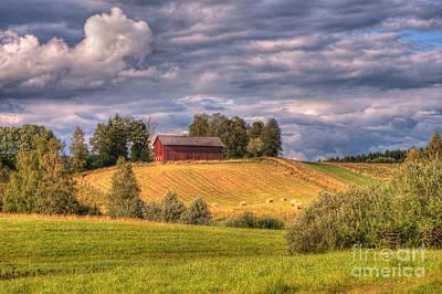 Countryside In Sweden Art Print by Caroline Pirskanen