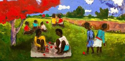 Painting - Countryside Picnic by Dilip Sheth
