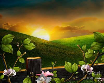 Countryside Sunset Art Print by Bedros Awak