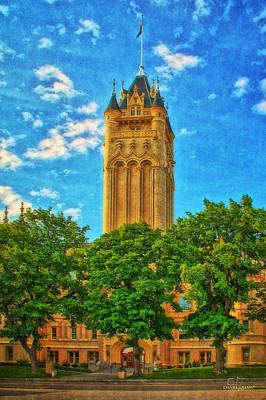 Photograph - County Courthouse by Dan Quam
