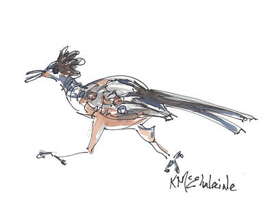 Painting - County Road Runner by Kathleen McElwaine
