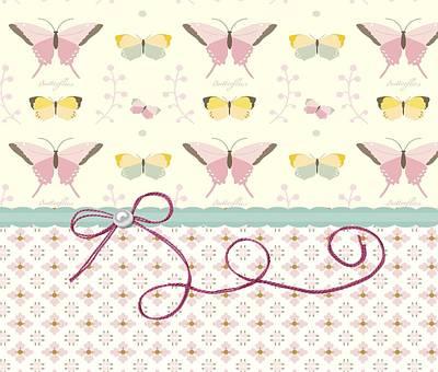 County Side Butterflies Art Print