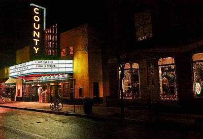 Photograph - County Theater At Night by William Jobes