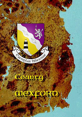 Digital Art - County Wexford by Val Byrne