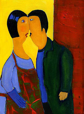 Painting - Couple by Agnes Trachet