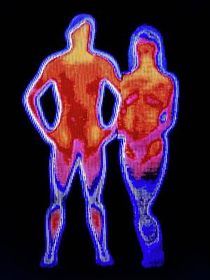 Thermograph Photograph - Couple by Alfred Pasieka