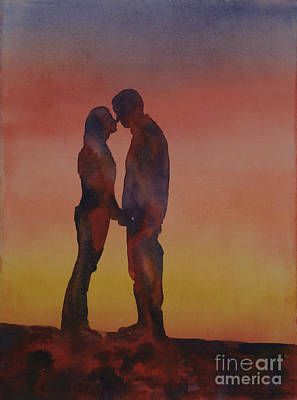 Unity Painting - Couple At Sunset by Ryan Fox
