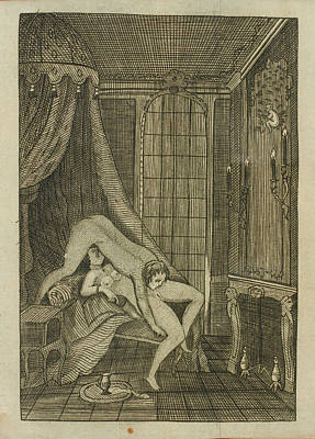 Nicolas Photograph - Couple Engaged In Oral Sex by British Library