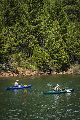 Photograph - Couple Kayaking Sugar Pine Reservoir by Sherri Meyer