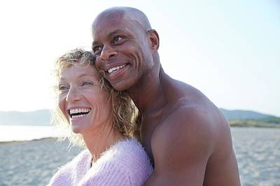African American Couple Photograph - Couple Laughing by Ruth Jenkinson