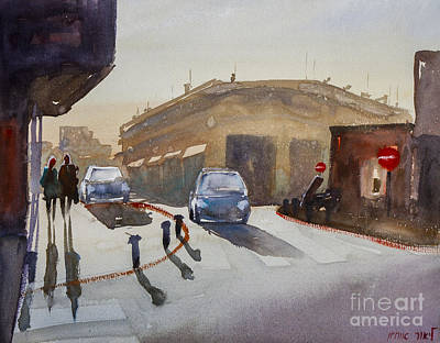 Painting - Couple On The Street by Lior Ohayon