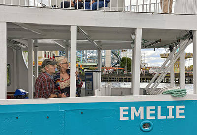 Photograph - Couple On Tour Boat In Stockholm Sweden by Marianne Campolongo