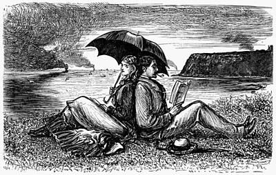 Couple Reading, 1876 Art Print by Granger