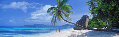 Couple Walking On The Beach, Anse Print by Panoramic Images