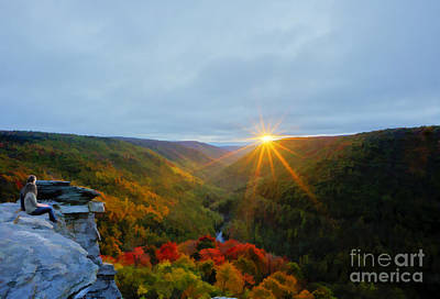 Photograph - Couple Watching West Virginia Sunset by Dan Friend