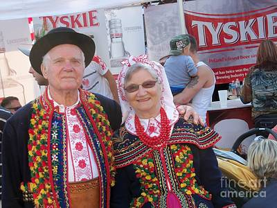 Couples In Polish National Costumes Art Print by Lingfai Leung