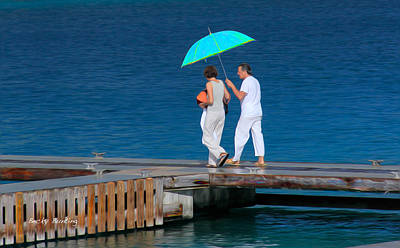 Bahamas Pier Photograph - Couples Retreat by Becky Bunting