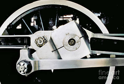 Coupling Rod And Driver Wheels For A Steam Locomotive Art Print by Wernher Krutein