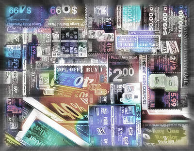 Economy Mixed Media - Coupon Collage 2 by Steve Ohlsen