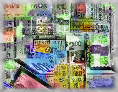 Coupon Collage Art Print by Steve Ohlsen
